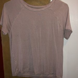 soft&sexy pink & white striped shirt from AE